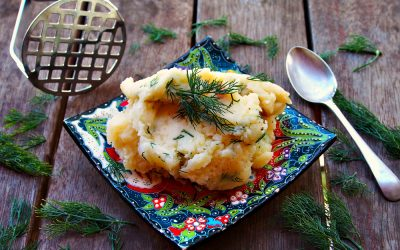 Buttery Dill Mashed Potatoes